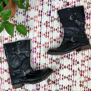UGG Black Gillespie Motorcycle Leather Biker Boots